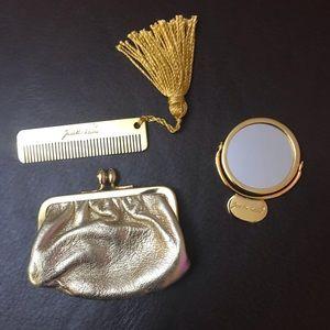 Judith Leiber Coin Purse Mirror Comb Accessories